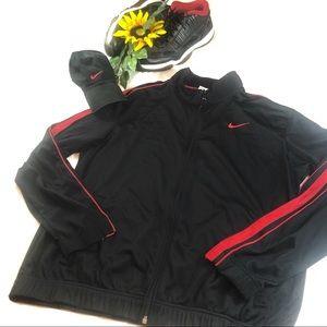 Men's Nike Track Jacket Black Red Full Zip Medium